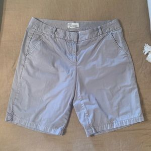 Sz 4 ladies J. Crew grey Bermuda shorts.